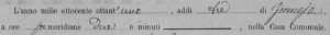 Record Date for Post 1875 Birth Record Canischio, Italy